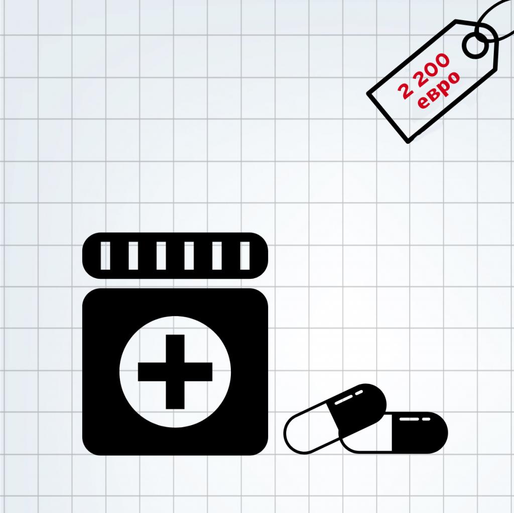 Лекарства - 2 200 евро