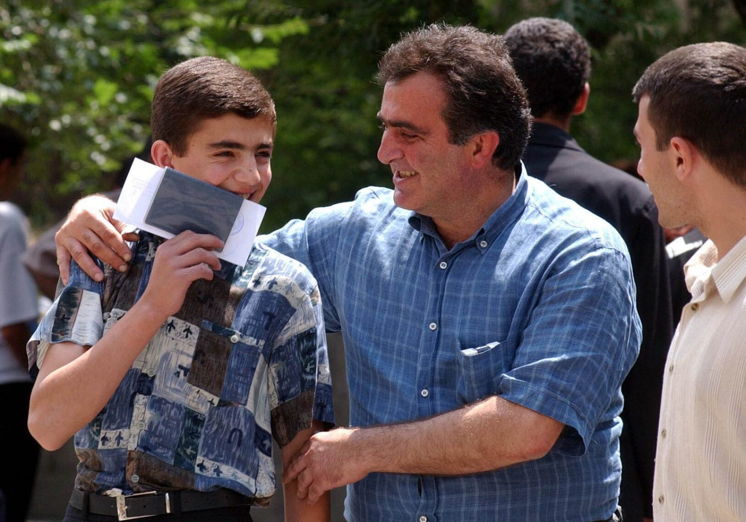 This has been a nerve-wracking week for many students as they have waited to discover if they have passed entrance exams for universities in Armenia. For this student in Yerevan, success brought a smile and a kiss from a relative.
